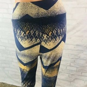 Lularoe Tall And Curvy Leggings Blue Yellow